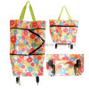 600d Printing Polyester Shopping Bag with Wheels