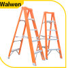 New Design Orange Color Aluminum Step Fiberglass a Frame Ladder with Plastic Tray