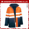 Waterproof Blue Work Wear Orange Reflective Safety Jacket (ELTSJI-16)