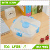 Double Layers Knives and Fork Plastic Lunch Box BPA Free Plastic Container Plastic Bento Lunch Box