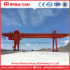 Rubber Tyre Hoist Container Lifting Gantry Crane 20 Ton 40 Ton