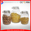 Wholesale Embossed Customized Storage Glass Jar with Clip Lid