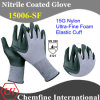 Nylon Knitted Glove with Ultra-Fine Nitrile Foam Coating & Elastic Cuff
