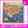 W2015 Wooden Montessori Kids Map Jigsaw Puzzle, Educational Children Wooden Map Puzzle Toy, Promotion Puzzle Map of Canada W14c141