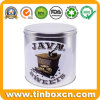 Large Custom Silver Emboss Round Metal Can Coffee Baked Chocolate Biscuit Cookie Tin for Storage