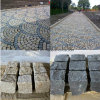 Good Quality Granite Cobble Stone with Split/Cleft in Black/Yellow for Plaza