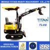 Titan China Sale Farm Using Mini 0.8ton Digger Small Escavatore with Diesel Engine