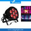 7PCS Waterproof Outdoor Zoom LED Flat Slim PAR Can Light Stage Lighting