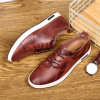 Hot Original Men Winter Casual Shoes, Working Shoes, Second Layers of Leather Shoes Men