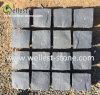 Rough Finish Hainan Grey Basalt Cube Stone Meshed, Blue Stone Cobble Stone