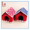 Christmas Pet Kennel Fleece Doghouse with Bell Two Color Optional