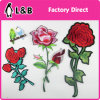 2017 New Sew on fashion Embroidery Rose Flower Patches for Clothing