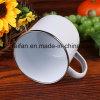White Color Enamel Mug Set/Plain Color Enamel Cup Set Mix with Tray