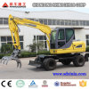 Hot Sale 8 Ton Wheel Excavator, 0.3 Cbm Bucket Excavator, Hydraulic Excavator for Sale