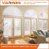 White Color Sunburst Plantation Shutters