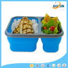Three Lattice Food Grade Silicone Foldable Lunch Box