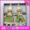 2017 New Products Christmas Cartoon Wooden Toy Baby Dolls W02A232