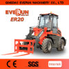Everun Farming Machine Er20 Front Wheel Loader with Grass Forks