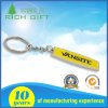 Rectangle Shape of Metal Keychain with Yellow Color Infilled