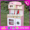 New Design Kids Pretend Play Pink Wooden Kitchen Toy W10c238
