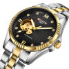 Luxury Diamond Hollow Gold Automatic Mechanical Watch Male Business Style