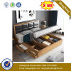 Modern Wooden Leather King Home Hotel Bedroom Furniture Set Double Bed (UL-9GD058)