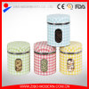 Hot Sale Set 4 Stainless Steel Coating Air Seal Decorative Large Glass Storage Jars