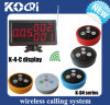 CE Approved Paging System with Number Receiver and Transmitter Button