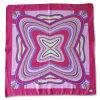 Polyester Matte Satin Printed Square Silk Scarf (YKY4136)