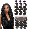 Brazilian Body Wave Lace Frontal Closure with 3 Bundles Virgin Brazilian Body Wave Human Hair with Frontal Closure