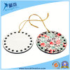Sublimation MDF Christmas Ornaments with Round Hollow