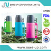 LFGB, FDA Certificate Plastic Vacuum Thermos with Glass Liner (FGUB)