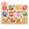 New Hottest Educational Game Wooden Fruit Puzzle for Children DIY W14m111