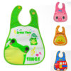 Eco-Friendly Beautiful Pocket PEVA Wholesale Baby Bibs Blank