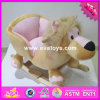 2017 Wholesale Pink Wooden Rocking Horse for Girls, New Design Music Wooden Rocking Horse for Girls W16D097