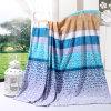 Printed Stripe Polyester Coral Fleece Blanke