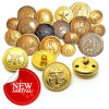 Gold Metal Sewing Button for Garment