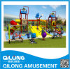 Plastic Water Pool Slides Factory in China (QL-150707E)