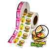 Factory Price Food Package Label Sticker Die Cut Hamburger Stickers Pet Products Labels Popular Design