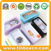 Cartoon Tin Box with Clear Window Lid for Pencil Case Stationery