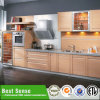 Modern White PVC Kitchen Cabinet with Different Door Shapes
