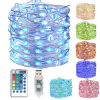 16 Colours 100 LEDs Waterproof Micro Copper Wire Decoration Light with Remote