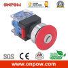Onpow 30mm Emergency Switch with Key (LAS0-K30-11YTS, CE, CCC, RoHS)