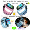 Touch Screen Kids GPS Tracker Watch with Flashlight (D26)