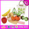 2015 New Wooden Kitchen Set for Baby, Children Wooden Vegetable Cutting Toy, Pretend Play Wooden Cutting Toy W10b137