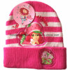 Factory Produce Customized Applique Pink Acrylic Kids Knitted Winter Cuff Beanie Hat
