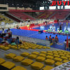 China Motor Driven CE Certificate First Class Durable Soccer Events Indoor Court Bench Chair Retractable Gym Bleachers