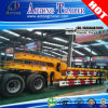 2 Axles Low Flatbed Semi Trailer, Low Loader Truck Trailer