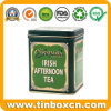 Food Grade Metal Square Tea Tin Cans Tea Container