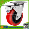 Mingze Medium Duty Total Brake Caster, PU Wheel